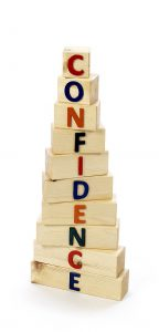 Confidence building blocks pyramid
